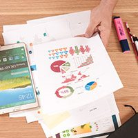 financial tools - paper on desk